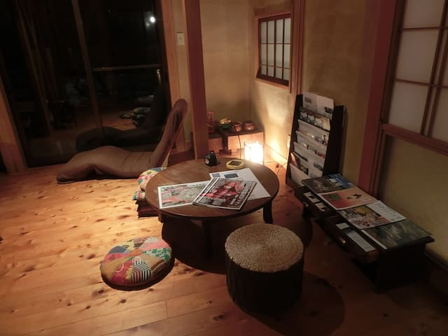 traditional Japanese wooden room