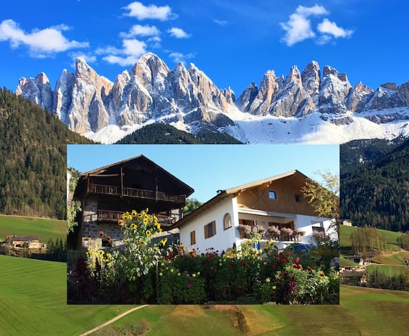 Dolomiten-Flair im Bergdörfchen - St.Peter - Appartement