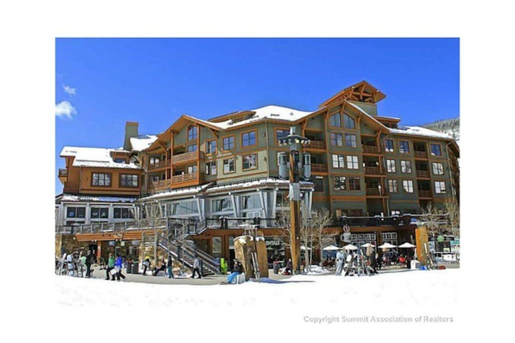 View of Copper One Lodge from the American Eagle Lift