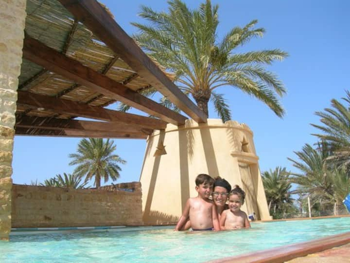 Djerba bella, appartement piscine villa de charme