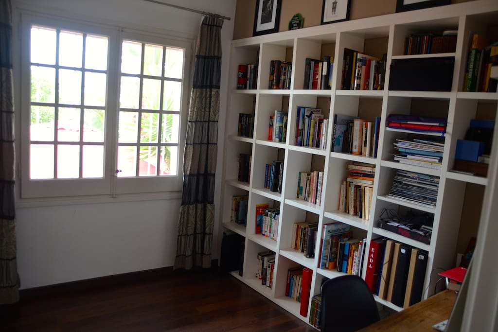 Spare bedroom or library