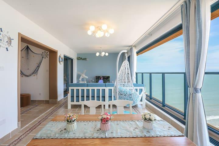 万科双月湾二期楼王【海边小筑】一线海景,阳台拥抱大海,开门就是沙滩!(送沙滩玩具一套)