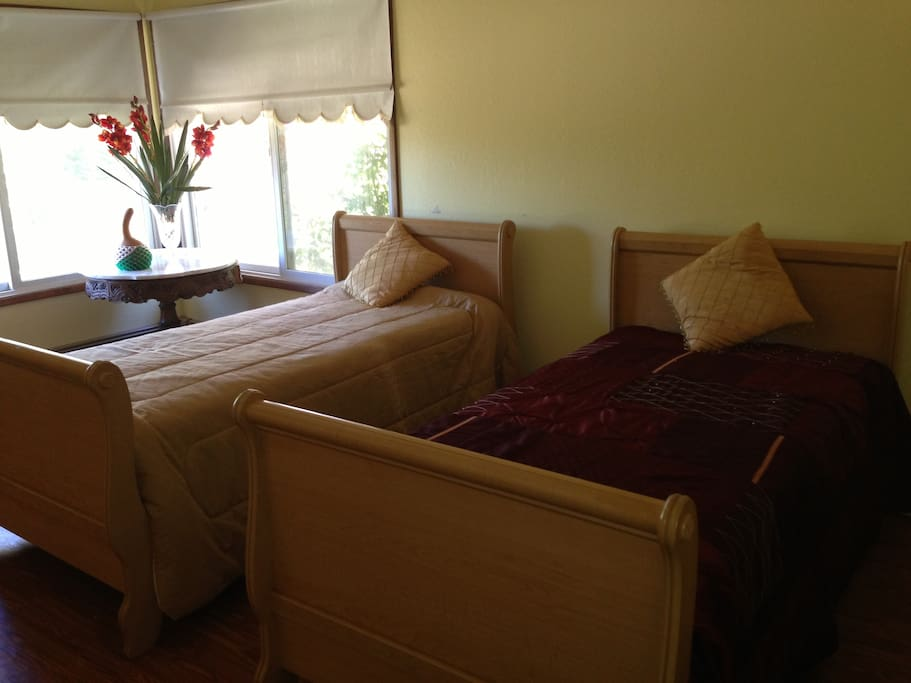 Bedrm w/2 twin beds. Not a good picture but a very nice bedroom
