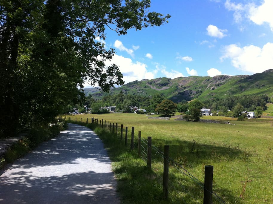 Path leading into Elterwater