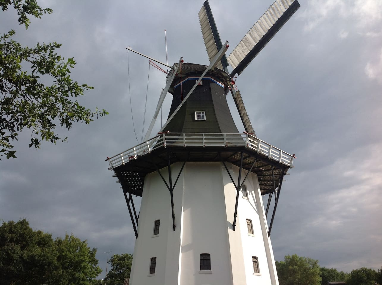 The location is next to the highest mill from Groningen the Wilhelmina mill