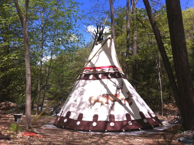Sioux Tipi on the Waterfall - Woodstock - Tipi