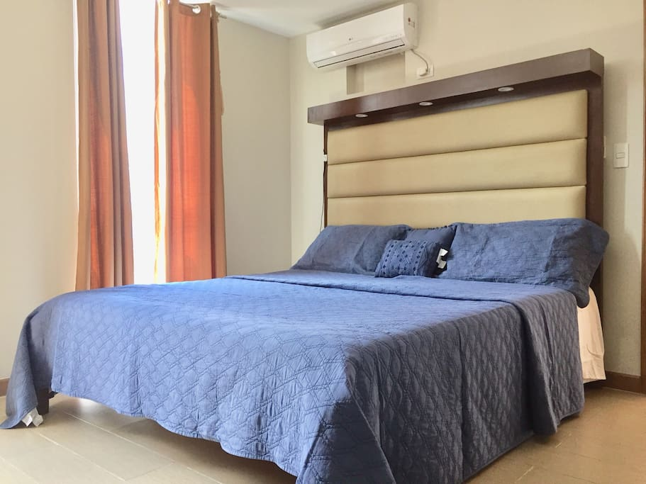 Enjoy a luxurious King size bed