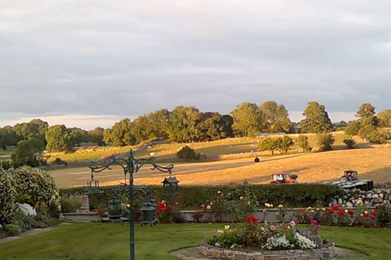 Summer evening view from Villa Pio