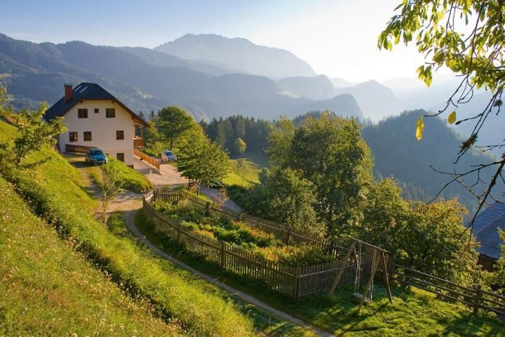 Double room on a Tourist farm in Logarska valley