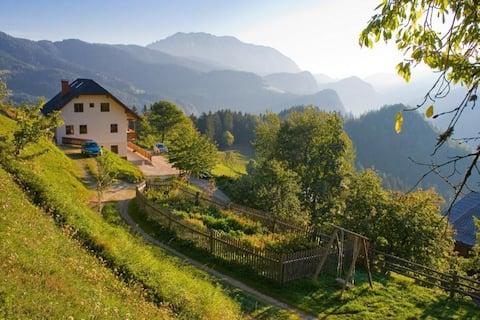 Double room on a Tourist farm in Logarska valley
