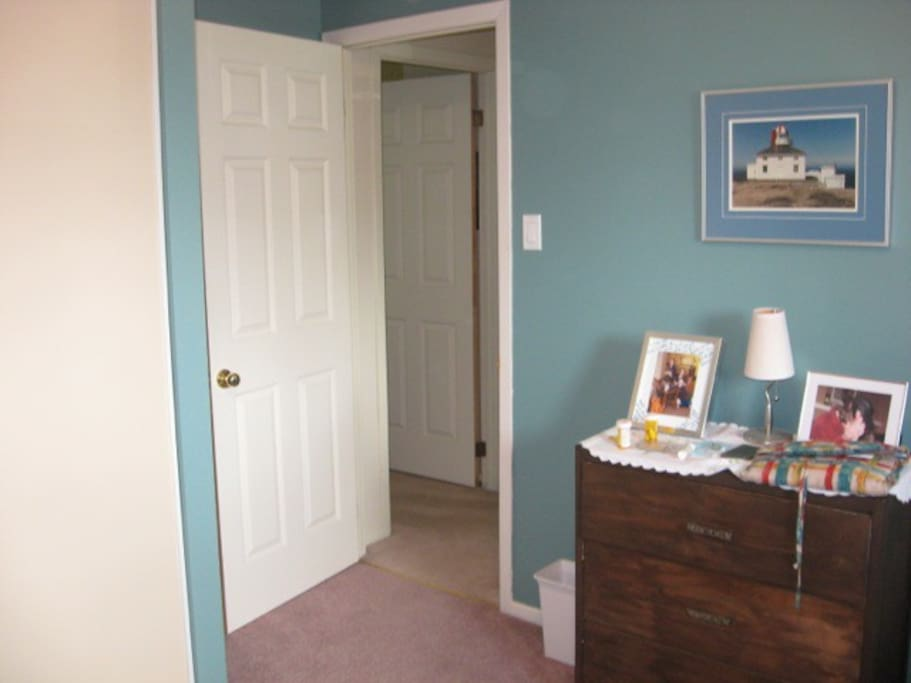 Entry to room. Closet just visible on left.