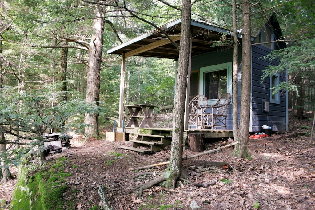 Camping cabin on chloe 39 s lake cabins for rent in for Log cabins upstate ny