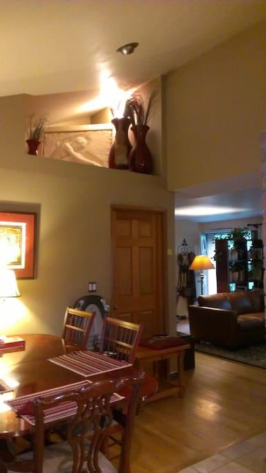 dining area looking toward living room and front door