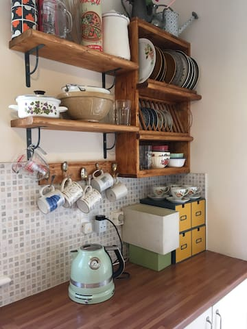 Tea and coffee making facilities in kitchen- available any time to guests