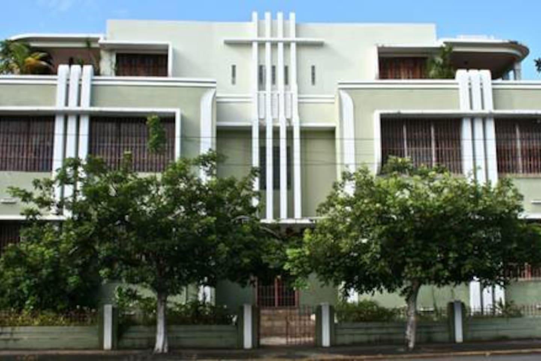 The Art-Deco building