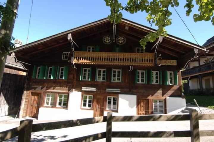 Chalet Chocolat in medieval alpine village
