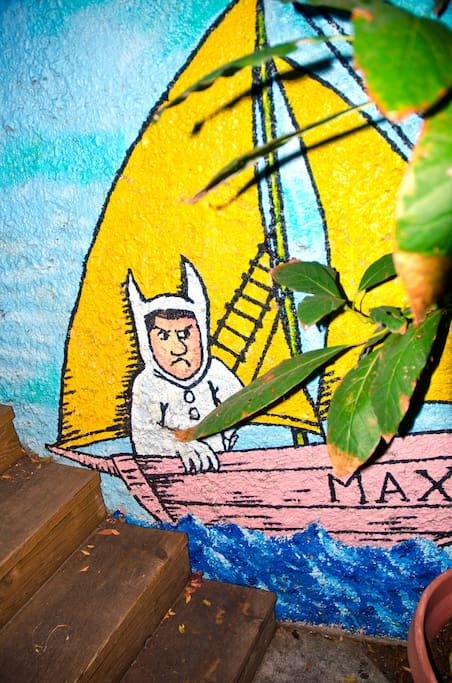 Maurice Sendak's Max makes an appearance in the Zen Garden. He's about to find out Where The Wild Things Are.