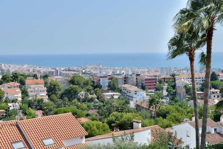 Maravillosas vistas de Sitges!!