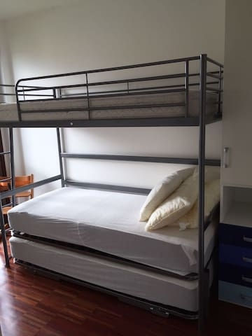Smaller bedroom to sleep up to  3 persons