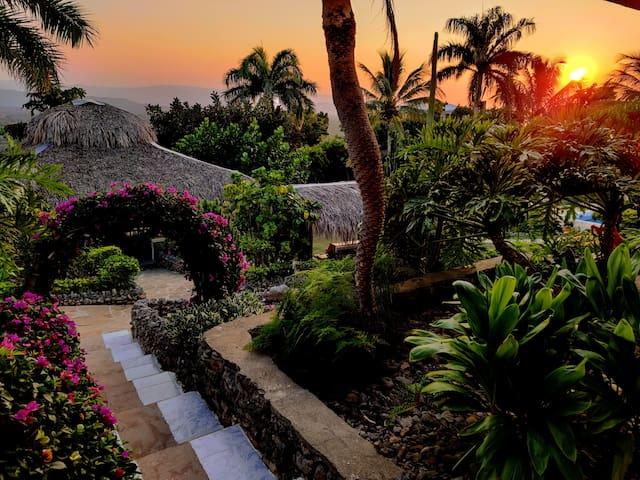 Appartement nautique au cœur d'un jardin tropical