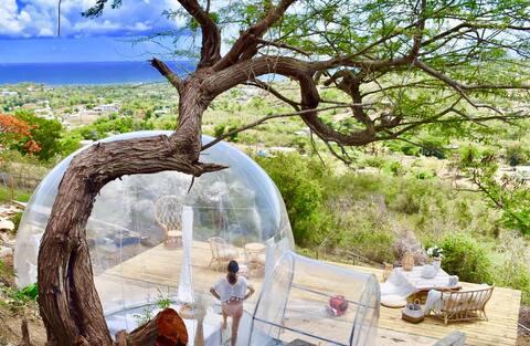 Bubble tent at Elnido Vieques
