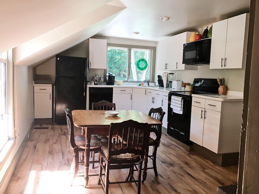 sun filled kitchen
