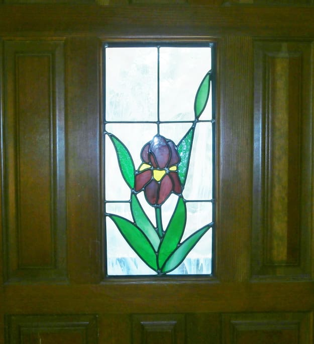 The Iris is Jerry's favorite flower.  We knew we were home when we saw the front door!