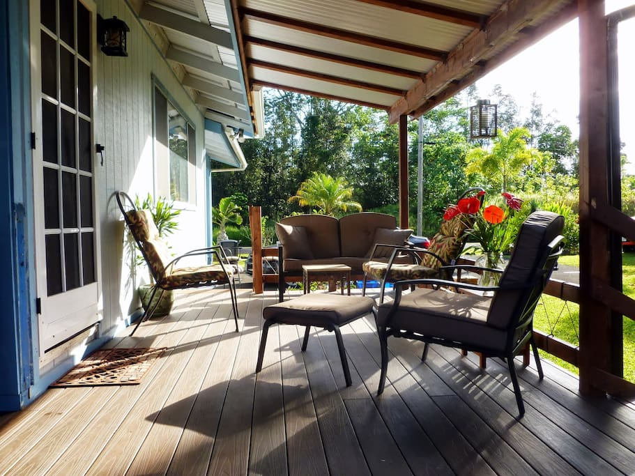 Cool and breezy front porch