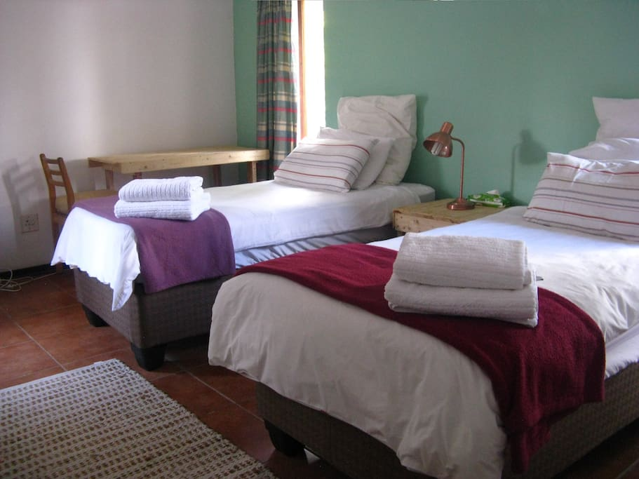 The two single beds