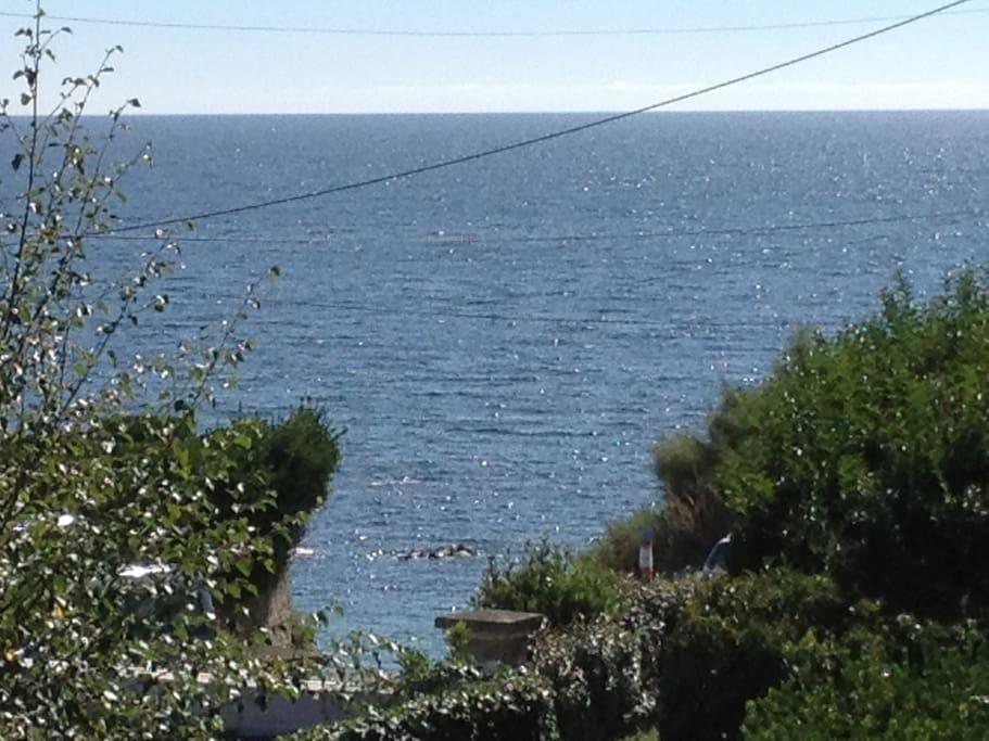 Belle vue mer depuis la maison