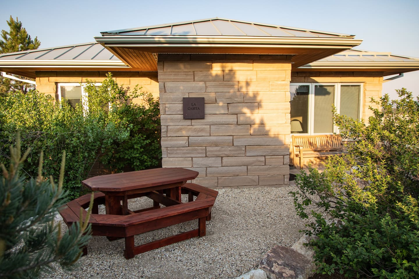 """""""La Casita"""" is what we call this luxurious guest house. West facing elevation shown."""
