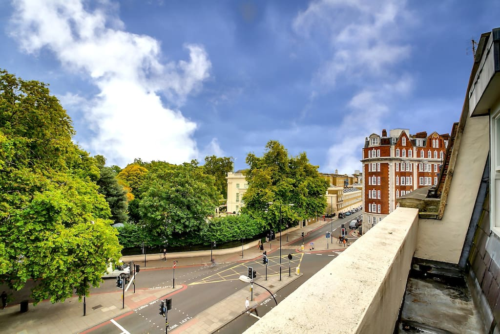 View from Fourth Floor Facing Regents Park