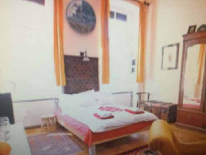 We offer an antique stile furnished one-room