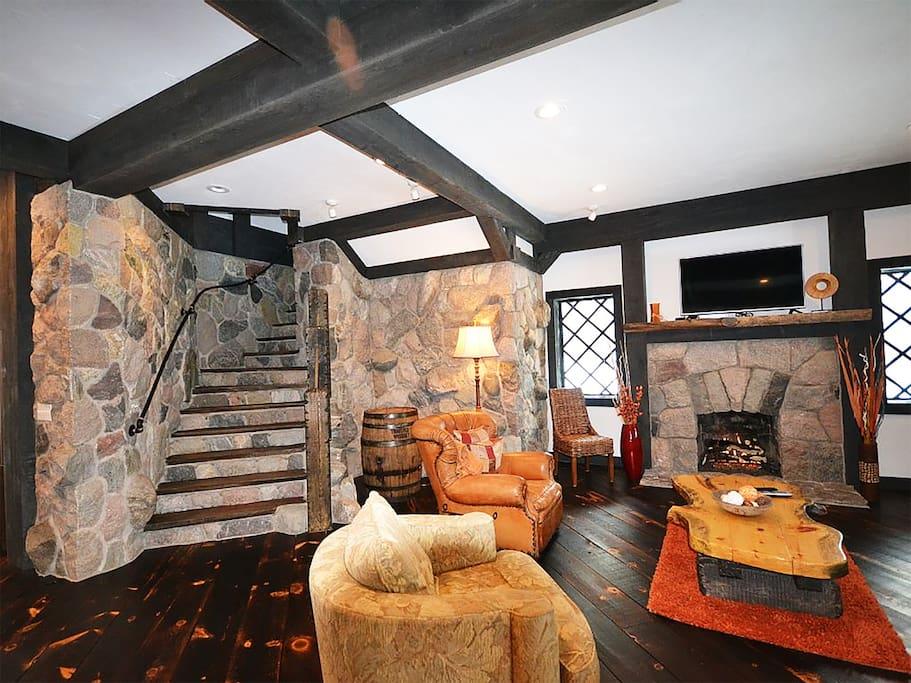 Open concept family room, main level