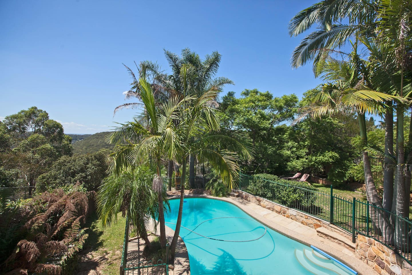 View of The Woronora valley, solar heater pool and entire garden area you are welcome to enjoy.