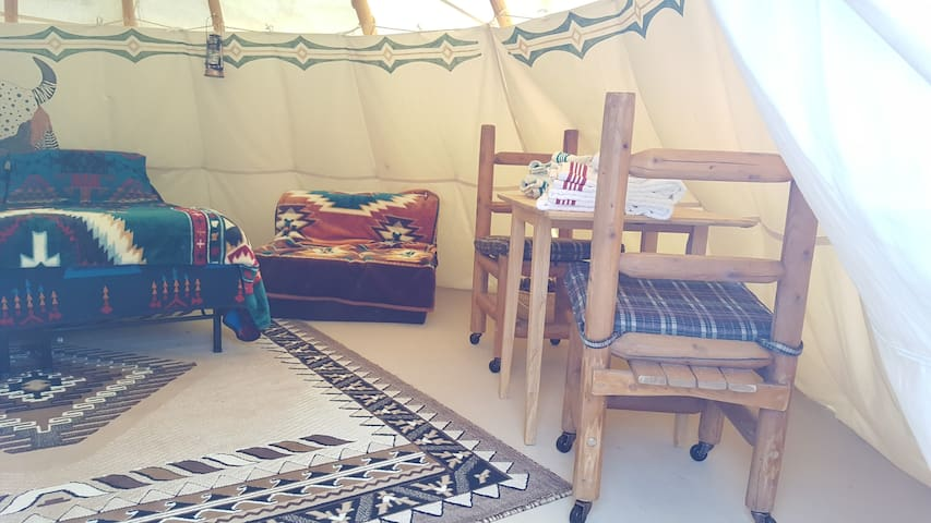 Tipi Interior example
