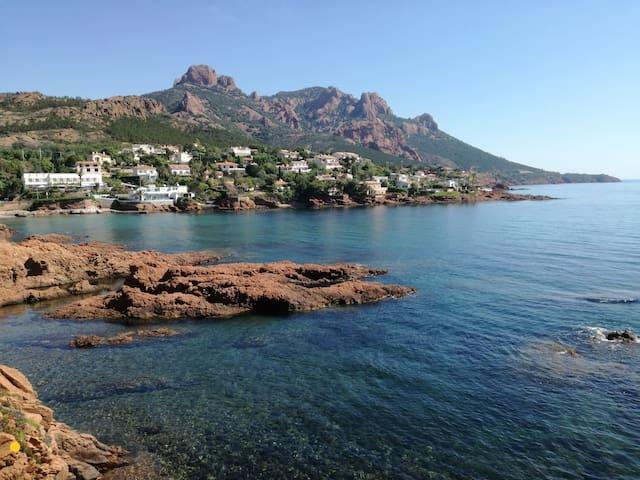 Appartement refait à neuf vue mer, 10m de la plage