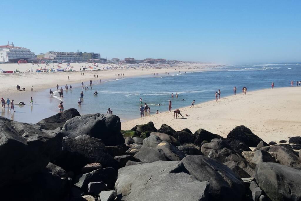 Praia de Vieira à marée basse