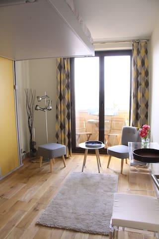 Chambre indépendante, confortable, vue sur Paris