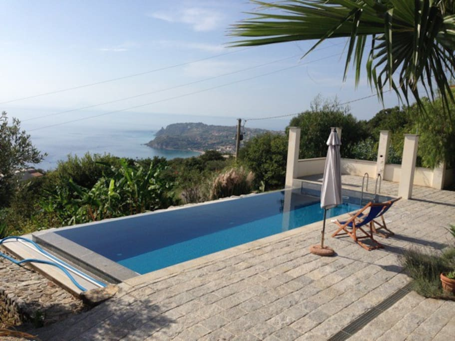 Swimming Pool with view of Capo Vaticano