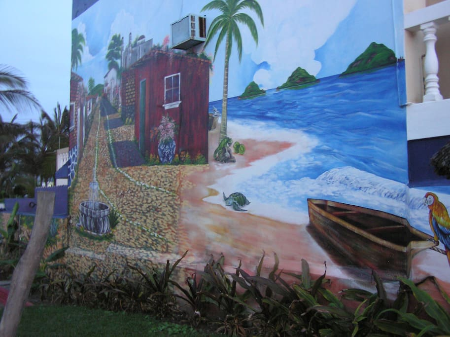 Deck mural