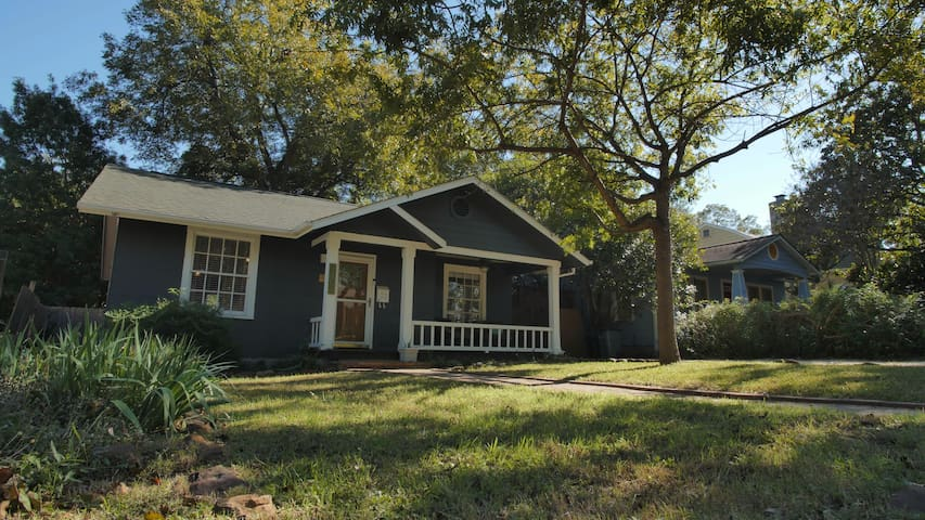 """""""Your 2 bedroom/1 bath home"""" (front house) We live in the """"back house"""" - you have complete privacy/autonomy. Travis Heights is a lovely neighborhood and parking is safe and on the street."""