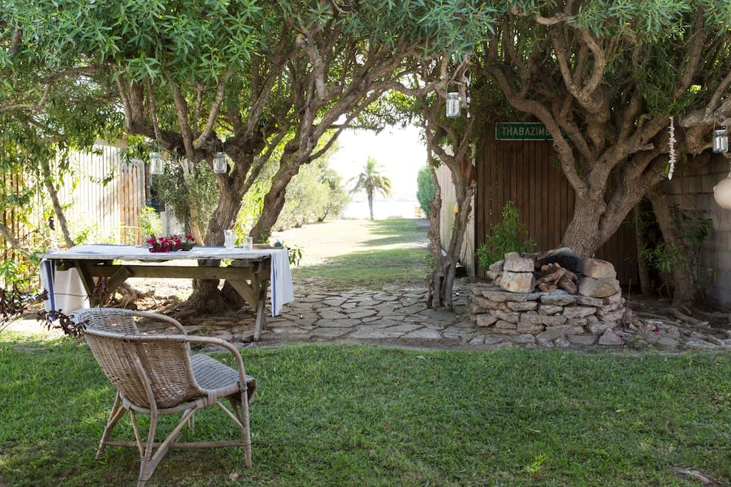 Secluded - this cottage is set among olive trees, secluding it from West Coast winds