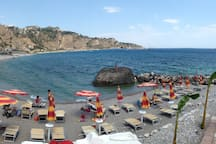 little beach in Giardini Naxos