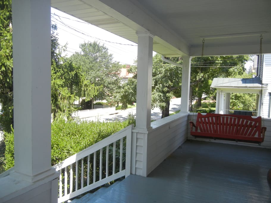 Porch view of Jackson Ave
