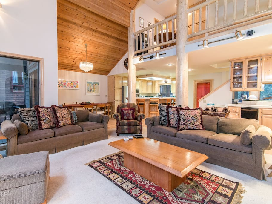 Spend time together in the main living area with plenty of comfy seating.