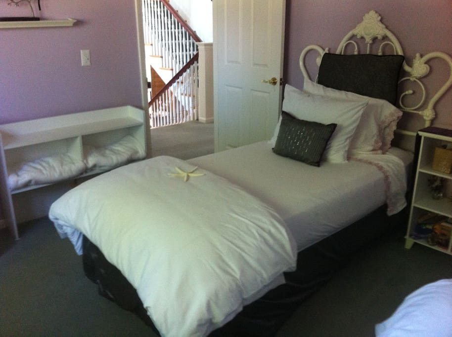 Private bedroom with private bathroom just through the door