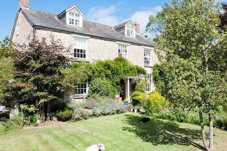 Quiet 5 bed farmhouse & indoor pool - Devon - Casa