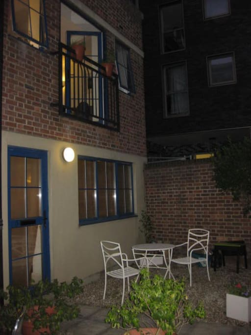 outside space with own private patio area