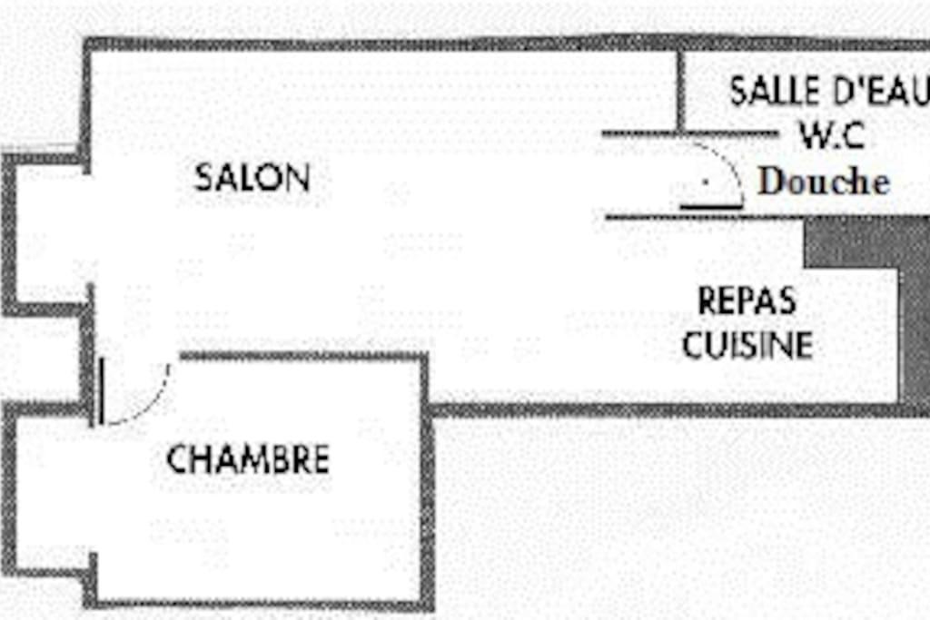 Plan gîte Les Lavandes